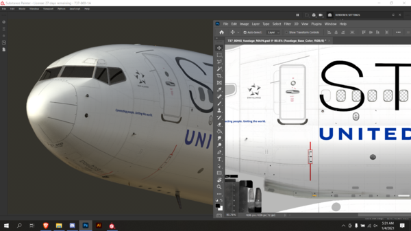 United Airlines for the Level Up 737 Series