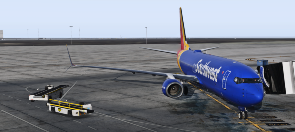 Southwest 737-800 on the ground in Denver
