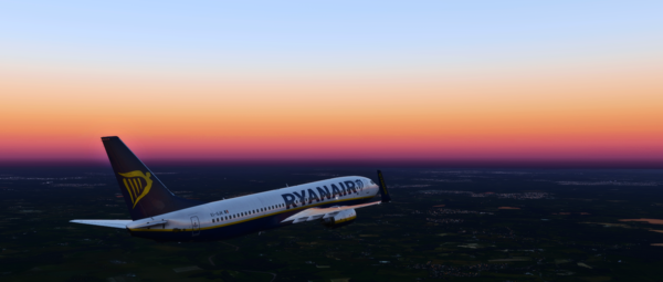 Ryanair 737-800 to London Gatwick